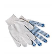 Перчатки вязаные (5 нитей),ПВХ точка, плотные, черные (упак. 5 пар)
